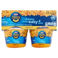 Kraft Macaroni & Cheese Dinner Cups Original Flavor - 4 CT Food Product Image