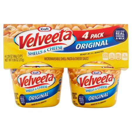Kraft Velveeta Shells & Cheese Original Cups - 4 CT Food Product Image