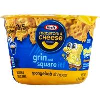 Kraft Macaroni & Cheese Dinner Spongebob Shapes Food Product Image