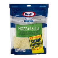 Kraft Mozzarella Cheese with Philadelphia Cream Cheese Food Product Image