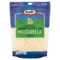 Kraft Natural Cheese Shredded Part-Skim Mozzarella Food Product Image