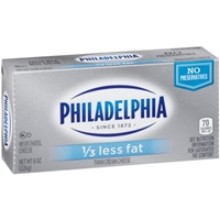 Kraft Philadelphia 1/3 Less Fat Neufchatel Cheese Food Product Image