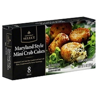 Safeway Select Crab Cakes Mini, Maryland Style Food Product Image