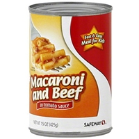 Safeway Macaroni And Beef In Tomato Sauce Food Product Image