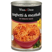 Winn-Dixie Spaghetti & Meatballs In Tomato Sauce Food Product Image