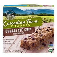 Cascadian Farm Organic Chewy Granola Bars Chocolate Chip - 6 CT Food Product Image