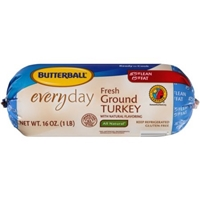 Butterball Ground Turkey Everyday Fresh All Natural 50% Less Fat Food Product Image