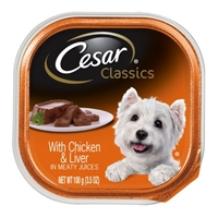 Cesar Classics Caninie Cuisine With Chicken & Liver Food Product Image