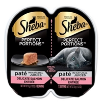 Sheba Premium Cat Food Perfect Portions Pate Delicate Salmon Entree - 2 CT Food Product Image