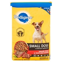 Pedigree Small Dog Complete Nutrition Grilled Steak & Vegetable Flavor Food Product Image