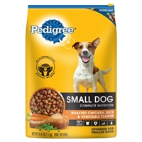 Pedigree Small Dog Complete Nutrition Food For Dogs Roasted Chicken, Rice & Vegetable Food Product Image