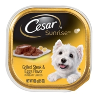 Cesar Sunrise Canine Cuisine Grilled Steak & Eggs Flavor Food Product Image