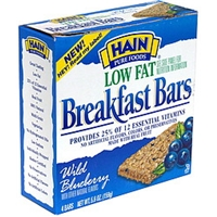 Hain Breakfast Bars Wild Blueberry Food Product Image