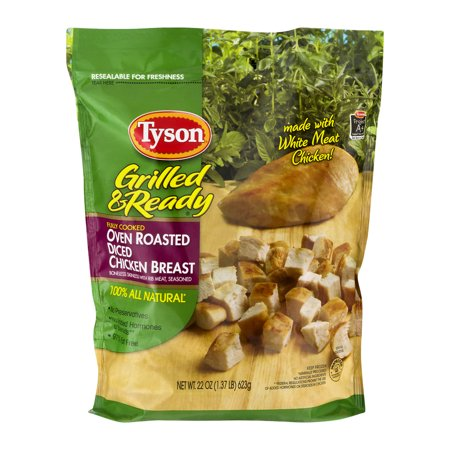 Tyson Grilled & Ready Diced Chicken Breast Oven Roasted ...