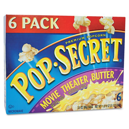 Pop-Secret Movie Theater Butter Microwave Popcorn - 6 CT Food Product Image
