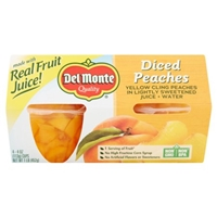Del Monte California Diced Peaches Yellow Cling Peaches in Light Syrup Food Product Image
