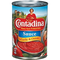 Contadina Tomato Sauce With Garlic & Onion Food Product Image