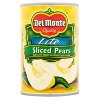 Del Monte Sliced Pears Lite Food Product Image