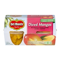 Del Monte Diced Mangos In Light Syrup - 4 CT Food Product Image