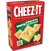Sunshine Cheez-It Baked Snack Crackers White Cheddar Food Product Image