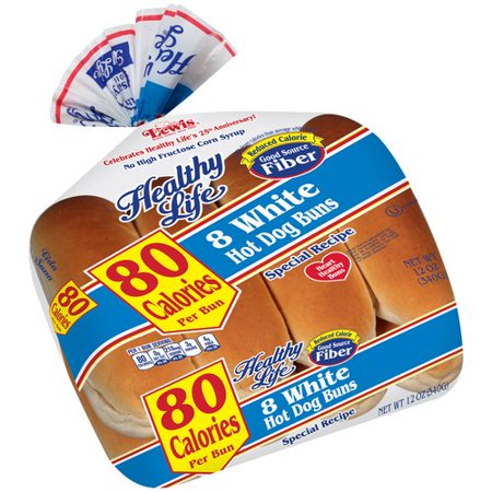 Healthy Life Hot Dog Buns White, Light Food Product Image