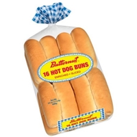 Butternut White Hot Dog Buns 16 Count Food Product Image