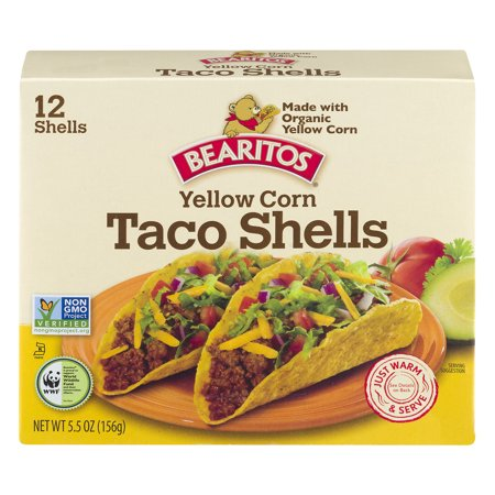 Bearitos Yellow Corn Taco Shells - 12 CT Food Product Image