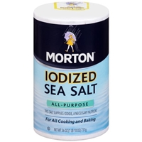 Morton Iodized Sea Salt Food Product Image