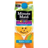 Minute Maid Premium Kids+ Pulp Free 100% Orange Juice Food Product Image