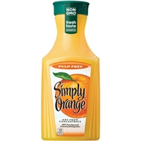 Simply Orange Pulp Free Orange Juice Food Product Image