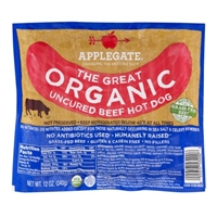 Applegate The Great Organic Uncured Beef Hot Dog - 7 CT Food Product Image