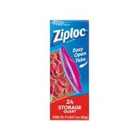 Ziploc Double Zipper Bags Storage Quart - 24 CT Food Product Image