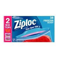 Ziploc Double Zipper Bags Freezer Quart - 38 CT Food Product Image