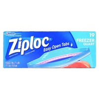 Ziploc Double Zipper Bags Freezer Quart - 20 CT Food Product Image