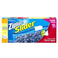 Ziploc Slider Stand & Fill Bags Storage Gallon - 60 CT Food Product Image