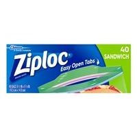 Ziploc Easy Open Tabs Sandwich Bags - 40 CT Food Product Image