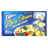 Ziploc Zip 'n Steam Medium Size Steam Cooking Bags - 10 CT Food Product Image