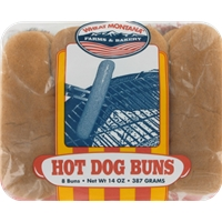Wheat Montana White Hot Dog Buns Food Product Image