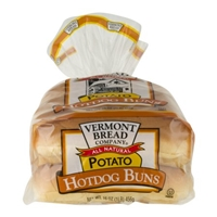 Vermont Bread Company All Natural Potato Hot Dog Buns Food Product Image