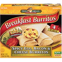 Don Miguel Burritos Breakfast Spicy Egg, Bacon & Cheese Food Product Image