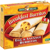 Don Miguel Burritos Egg & Sausage Food Product Image