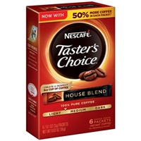 Nescafe Taster's Choice House Blend Instant Coffee Packets - 6 CT Product Image