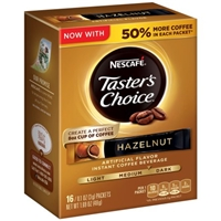 Nescafe Taster's Choice Hazelnut Instant Coffee Packets Product Image