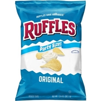 Ruffles Potato Chips Orginal Family Size Food Product Image