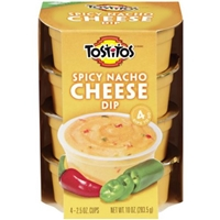 Tostitos Spicy Nacho Cheese Dips To Go - 4 Pk Food Product Image