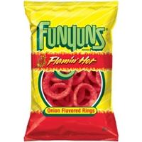 Funyuns Flamin' Hot Onion Rings Food Product Image