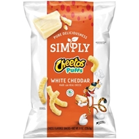 Simply Cheestos Puffs White Cheddar Food Product Image