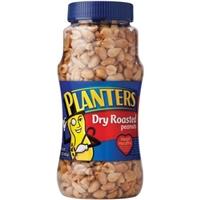Planters Dry Roasted Peanuts Food Product Image