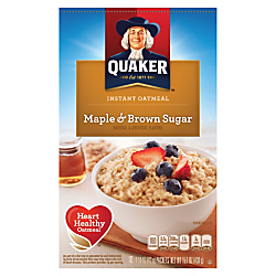 Quaker Instant Oatmeal Maple & Brown Sugar Flavor Packets Food Product Image