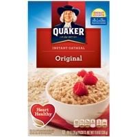 Quaker Instatn Oatmeal Original Flavor Packets Product Image
